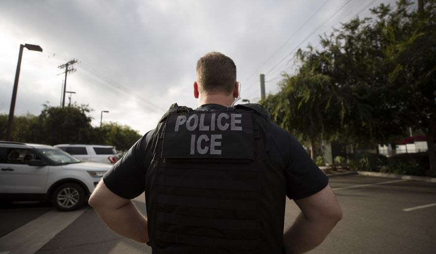 U.S. Immigration and Customs Enforcement officers would be taken off the streets and become criminal investigators under a reorganization plan by Homeland Security Secretary Alejandro Mayorkas. (Associated Press)