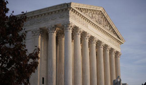 This Nov. 5, 2020, file photo, shows the Supreme Court in Washington. (AP Photo/J. Scott Applewhite, File)