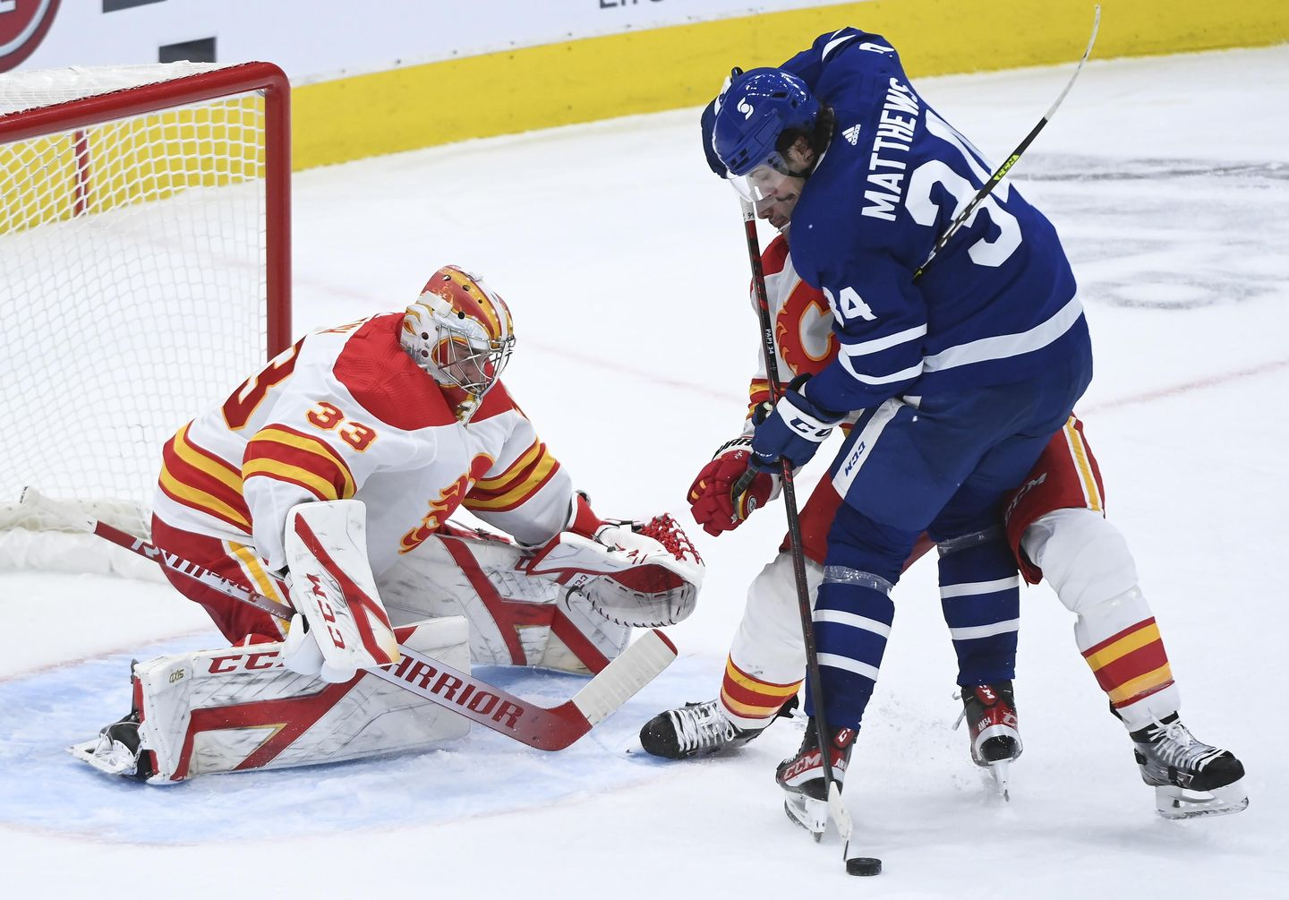 Rittich notches SO, Flames top NHL-leading Maple Leafs 3-0