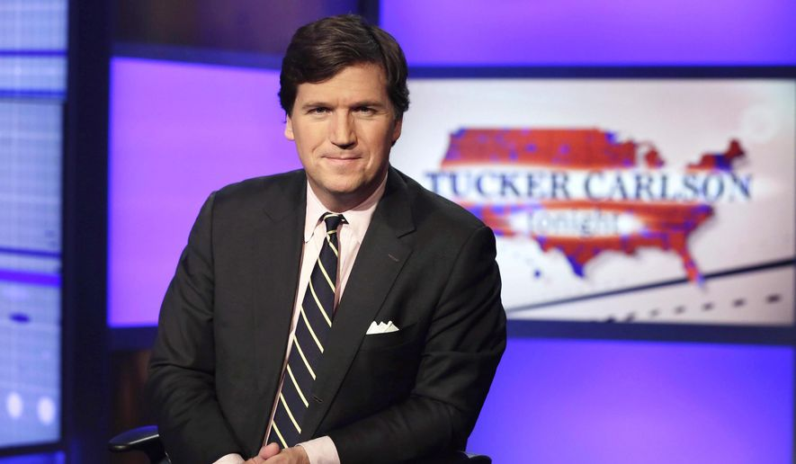 Fox News prime-time host Tucker Carlson now draws the largest audience on cable news, and also among non-news rivals. Fox News, meanwhile, remains the most watched channel in the cable realm. (Associated Press)