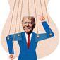 Dark Money Puppet Illustration by Greg Groesch/The Washington Times