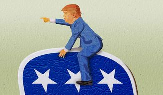 Trump Leads the GOP Illustration by Greg Groesch/The Washington Times