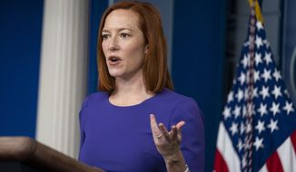White House press secretary Jen Psaki speaks during a press briefing at the White House, Wednesday, Feb. 24, 2021, in Washington. (AP Photo/Evan Vucci)