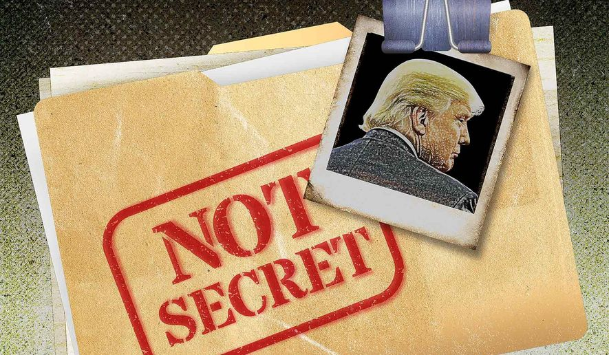 Discredited Dossier Illustration by Greg Groesch/The Washington Times