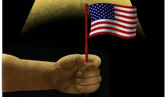 Illustration on Black Americans and original values by Alexander Hunter/The Washington times