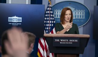 White House press secretary Jen Psaki speaks during a press briefing at the White House, Thursday, Feb. 25, 2021, in Washington. (AP Photo/Evan Vucci)