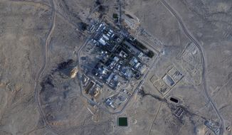 This Monday, Feb. 22, 2021 satellite photo from Planet Labs Inc. shows construction at the Shimon Peres Negev Nuclear Research Center near the city of Dimona, Israel. A long-secretive Israeli nuclear facility that gave birth to its undeclared atomic weapons program is undergoing what appears to be its biggest construction project in decades, according to satellite photos analyzed by The Associated Press. (Planet Labs Inc. via AP)