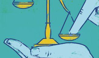 Illustration on Biden's war on equality by Linas Garsys/The Washington Times