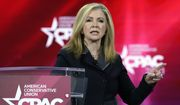 Sen. Marsha Blackburn, R-Tenn., speaks at the Conservative Political Action Conference (CPAC) Friday, Feb. 26, 2021, in Orlando, Fla. (AP Photo/John Raoux)