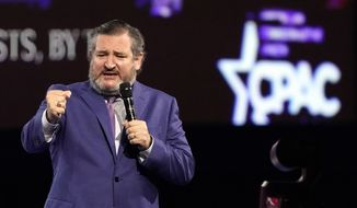 Sen. Ted Cruz, R-Texas speaks at the Conservative Political Action Conference (CPAC) Friday, Feb. 26, 2021, in Orlando, Fla. (AP Photo/John Raoux)