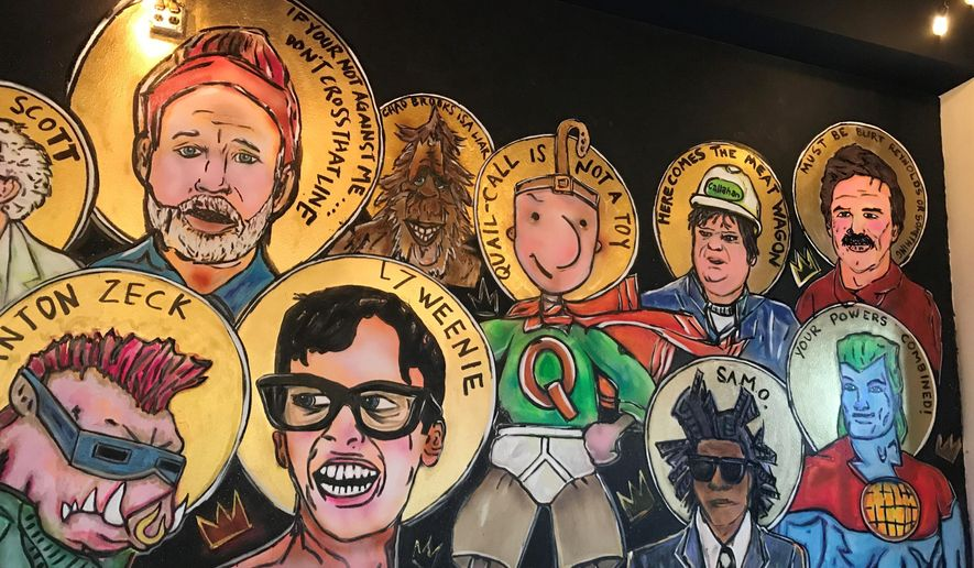 Revival Pizza in Sterlington, La., on Feb. 4, 2021, is set to open later this year. It features pop culture, a unique menu and a mission to love the community and fund mission work. (Bonnie Bolden/The News-Star via AP)