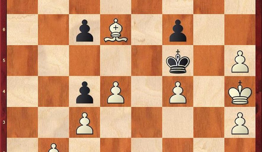 Shirov-Aronian after 43. Ba3-d6.