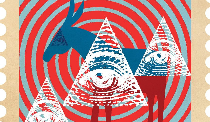 Illustration on Democrats and the Postal service by Linas Garsys/The Washington Times