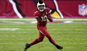 Arizona Cardinals wide receiver DeAndre Hopkins (10) makes a catch against the Buffalo Bills during the second half of an NFL football game, Sunday, Nov. 15, 2020, in Glendale, Ariz. (AP Photo/Ross D. Franklin)