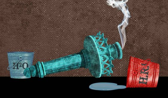 Liberty Killer Illustration by Greg Groesch/The Washington Times