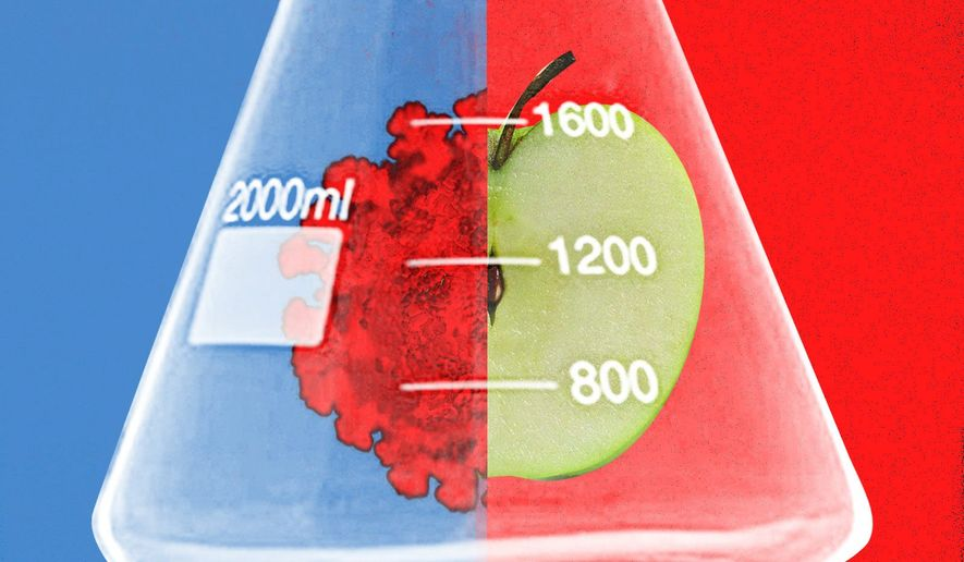 Liberals and science illustration by Linas Garsys / The Washington Times
