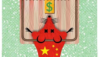 China Mousetrap Illustration by Greg Groesch/The Washington Times