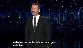 """Jimmy Kimmel warns his audience about pushing cancel culture too far, March 3, 2021. (Image: ABC, """"Jimmy Kimmel Live"""" video screenshot)"""