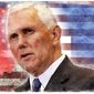 Illustration on Mike Pence by Alexander Hunter/The Washington times