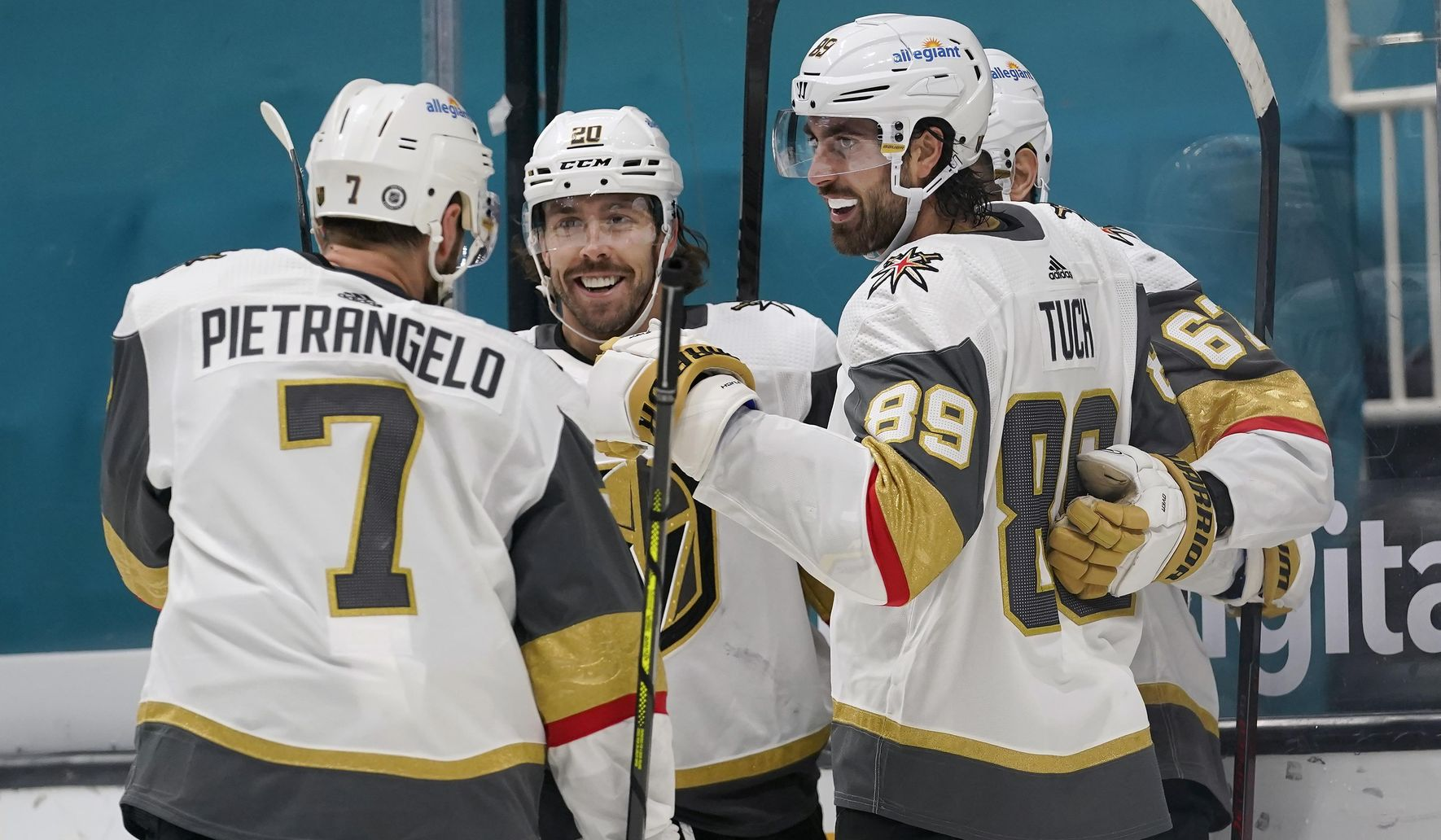Tuch, Fleury lead Golden Knights past Sharks 4-0