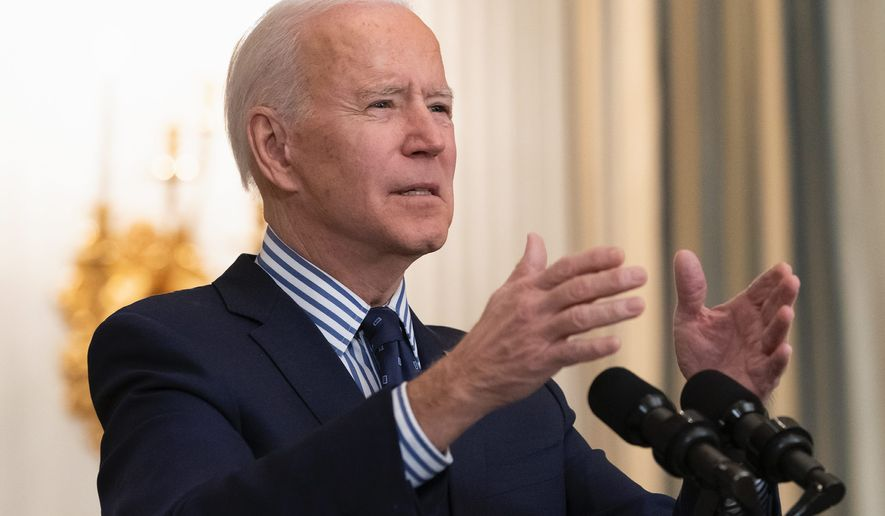 Some evangelicals have expressed disappointment in President Biden because the relief package excluded the Hyde Amendment. (Associated Press)