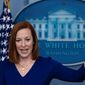 Press secretary Jen Psaki has been doing all the talking at the White House. Some analysts wonder when President Biden will step forward. (Associated Press)