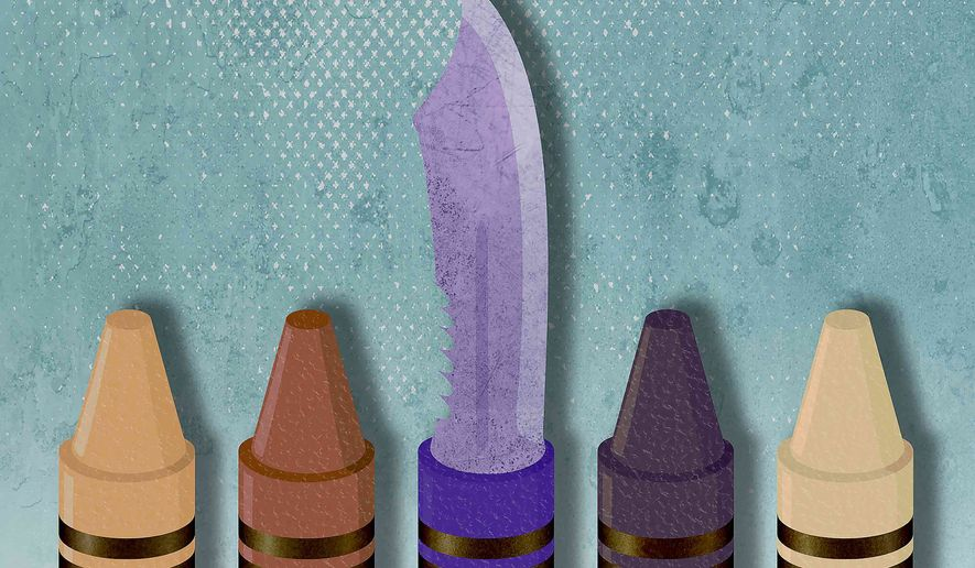 Teaching Hate in School Illustration by Greg Groesch/The Washington Times