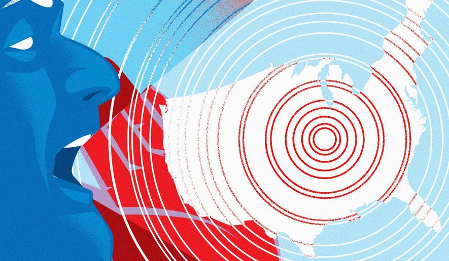 Division in America illustration by Linas Garsys / The Washington Times