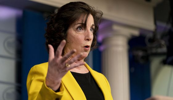 National Security Council Coordinator for U.S. Southern Border Roberta Jacobson speaks at a press briefing at the White House, Wednesday, March 10, 2021, in Washington. (AP Photo/Andrew Harnik)