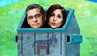 Unqualified Democrat Nominees Becerra and Tanden Illustration by Greg Groesch/The Washington Times