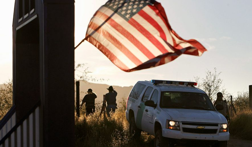 A new report from the Center for Immigration Studies was critical of President Biden's policies on immigration and the border. (Arizona Daily Star via Associated Press)