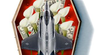 Illustration on the F-35 by Linas Garsys/ The Washington Times