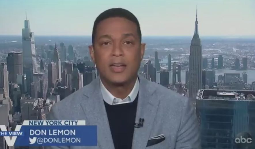 """CNN's Don Lemon says the Catholic Church is denying LGBT couples """"the same rights or freedoms, not necessarily under the Constitution because this is under God"""" as it pertains to marriage, March 15, 2021. (Image: ABC, """"The View"""" video screenshot)"""