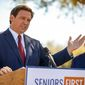 "An organization called ""Ron Be Gone"" launched this week. The group aims to prevent Florida Gov. Ron DeSantis from winning a second term. (Associated press)"