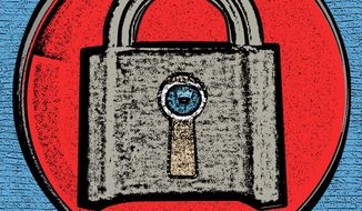 Violating the Constitution and the coming war on privacy illustration by Linas Garsys / The Washington Times
