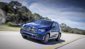 This photo provided by Mercedes-Benz USA, LLC shows the Mercedes-Benz GLE, a midsize luxury SUV that offers an awe-inspiring interior and exceptional technology features. (Andreas Lindlahr/Courtesy of Mercedes-Benz USA, LLC via AP)