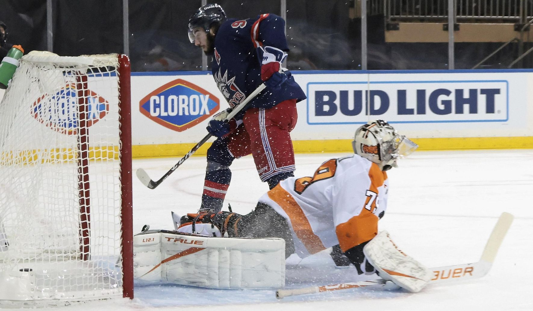 Zibanejad has 3 goals, 3 assists as Rangers rout Flyers 9-0