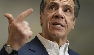 """A leading crisis management expert has advised New York Gov. Andrew Cuomo to """"play for time"""" and """"hope the political winds change."""" (Associated Press)"""