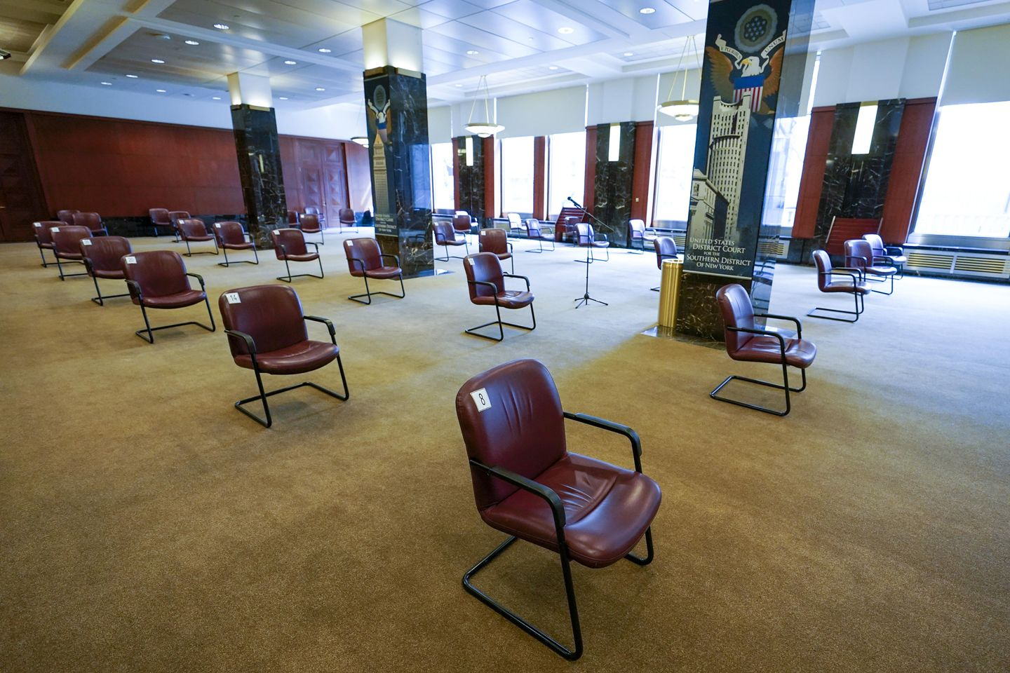 Reopening courthouses overwhelmed by case backlog