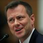 Former FBI agent Peter Strzok re-aired an unverified claim about two Republican senators relying on Kremlin disinformation on Twitter this month. (Associated Press)