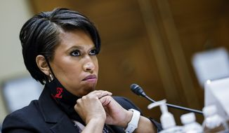 Washington, D.C., Mayor Muriel Bowser testifies before a House Oversight and Reform Committee hearing on the District of Columbia statehood bill, Monday, March 22, 2021 on Capitol Hill in Washington. (Carlos Barria/Pool via AP) **FILE**