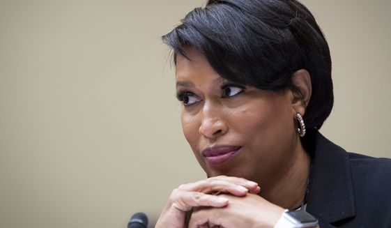 In this file photo, Washington, D.C., Mayor Muriel Bowser, testifies at the House Oversight and Reform Committee hearing, on D.C. statehood, Monday, March 22, 2021, on Capitol Hill in Washington. (Caroline Brehman/Pool via CQ Roll Call) **FILE**