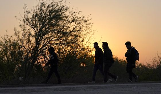 A new survey finds that a majority of Americans say the total number of immigrants admitted to the U.S. each year should be 1 million or less. (AP Photo/Julio Cortez)