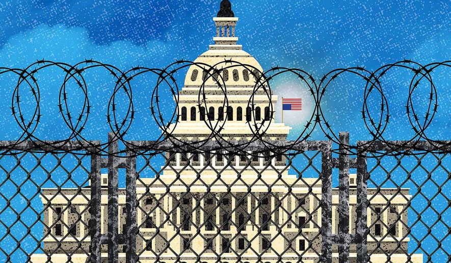 Nancy's Capitol Wall Illustration by Greg Groesch/The Washington Times