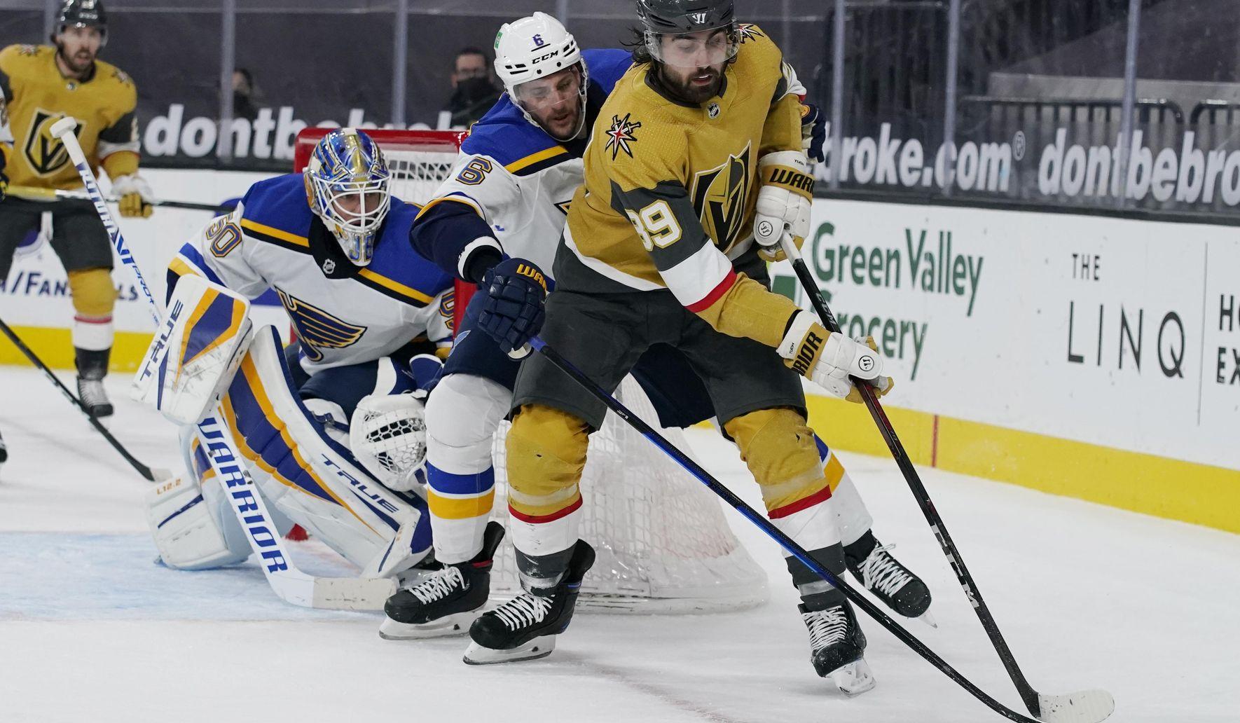 Kolesar scores 1st NHL goal, Golden Knights top Blues 5-1