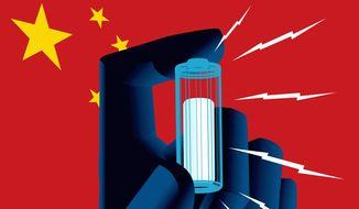 U.S. energy and China Illustration by Linas Garsys/The Washington Times