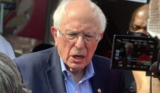 """""""I think we should extend it to four years,"""" Sen. Bernard Sanders, an avowed socialist from Vermont, said. (AP Photo/Kim Chandler)"""