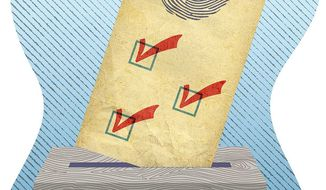 Ensuring Ballot Integrity Illustration by Greg Groesch/The Washington Times
