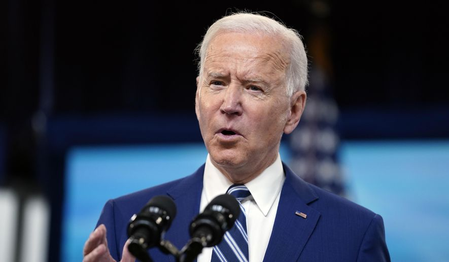 President Joe Biden speaks during an event on COVID-19 vaccinations and the response to the pandemic, in the South Court Auditorium on the White House campus, Monday, March 29, 2021, in Washington. (AP Photo/Evan Vucci) **FILE**