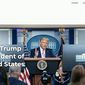 """Former President Donald Trump has unveiled his new official website — """"The Office of Donald J. Trump — at 45Office.com. (Associated Press)"""